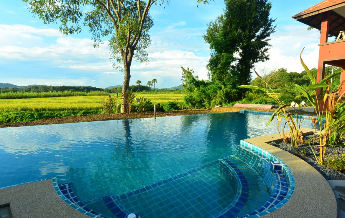 Bungalow resort with pool for sale in Mae On