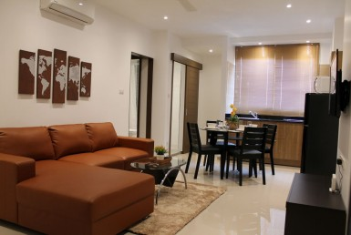 renovated 2 BR condo for rent @ Srithana